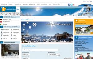 Skiregionen.com, Skigebiete und Unterkünfte aus Deutschland, Österreich und Italien